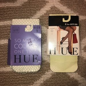 Hue NWT light green fishnet and micro fishnets S